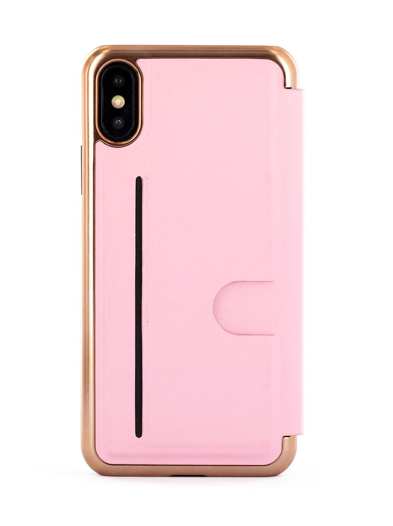 Back image of the Ted Baker Apple iPhone XS / X phone case in Soft Rose Pink