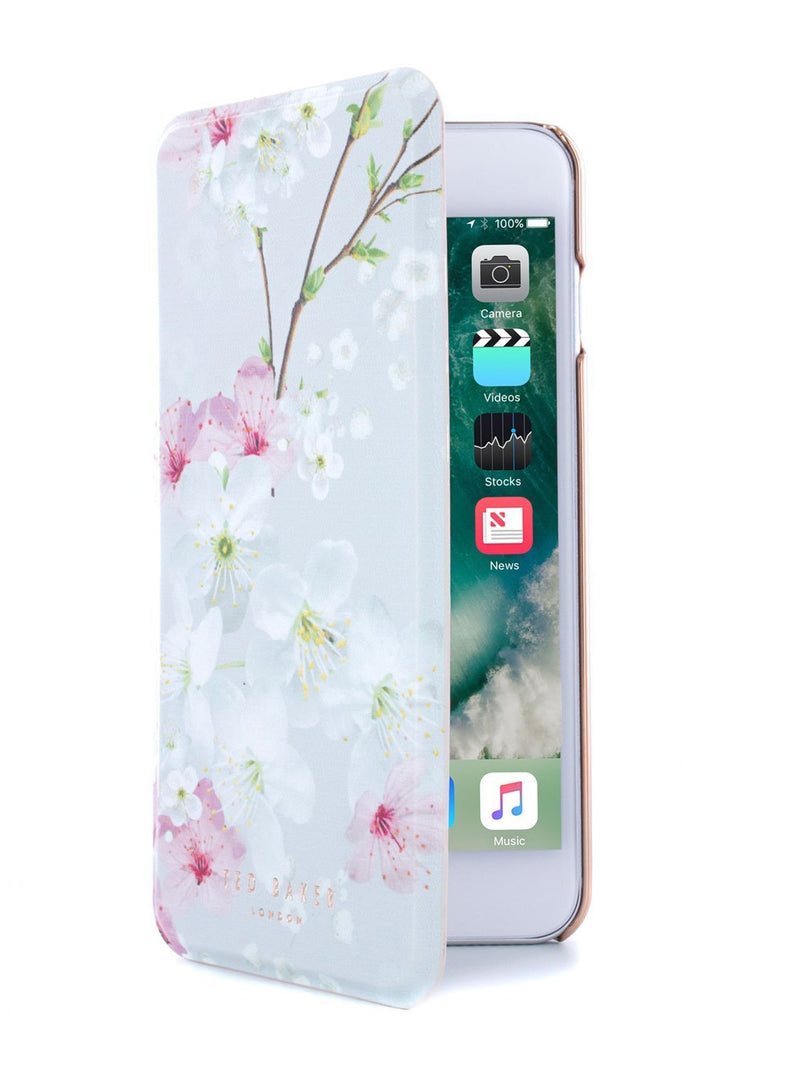 Flip cover image of the Ted Baker Apple iPhone 8 Plus / 7 Plus phone case in White