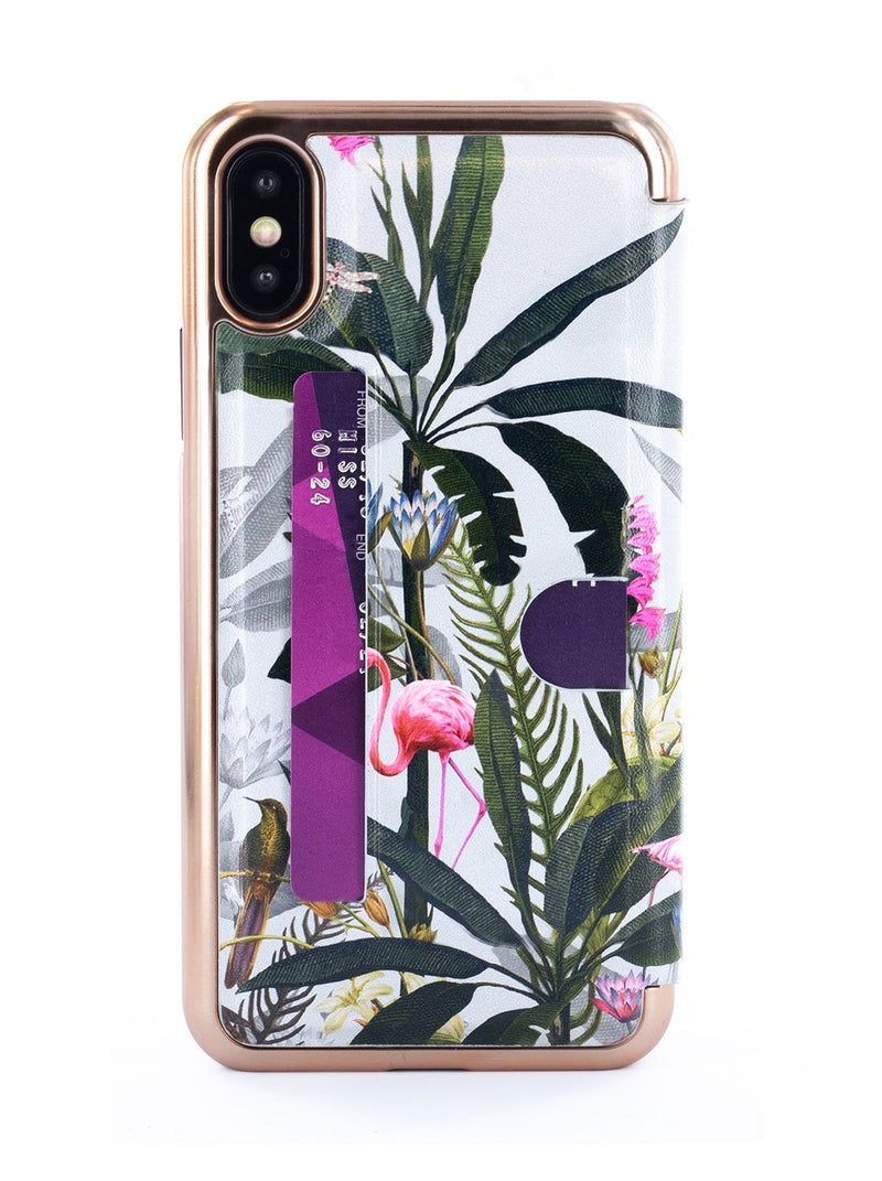 Back image of the Ted Baker Apple iPhone XS / X phone case in Grey