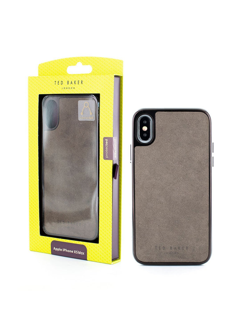 Packaging image of the Ted Baker Apple iPhone XS Max phone case in Grey