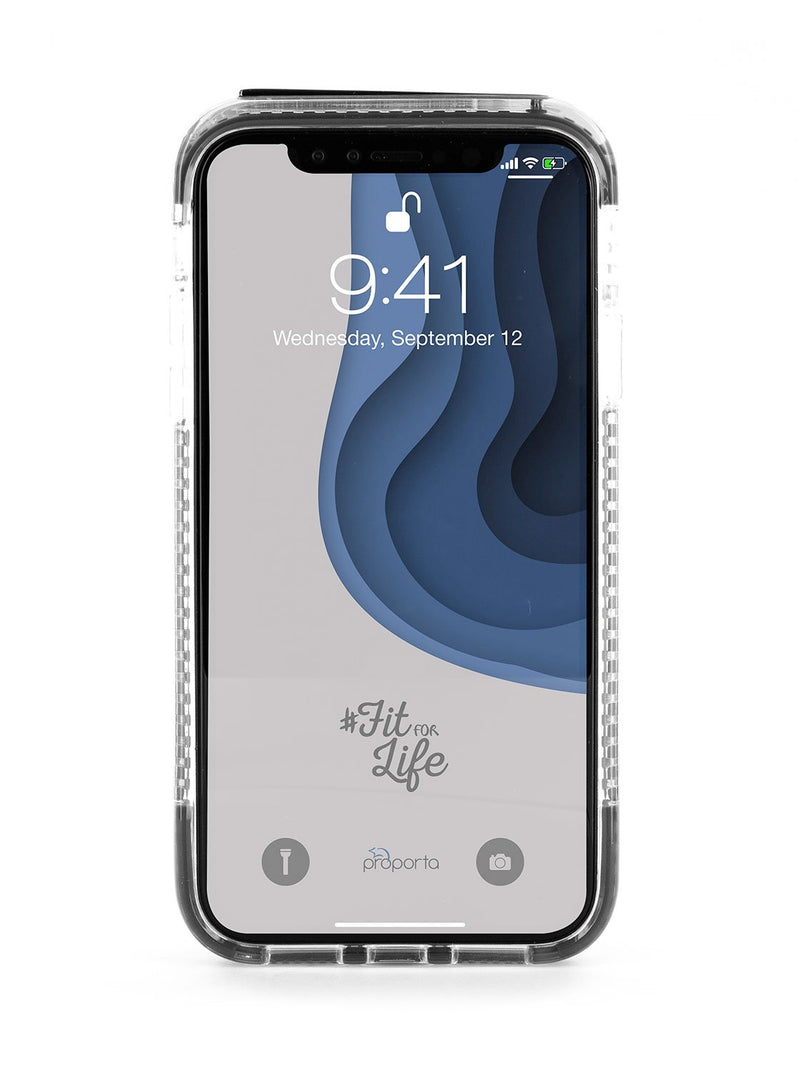 Back image of the Proporta Apple iPhone XR phone case in Grey