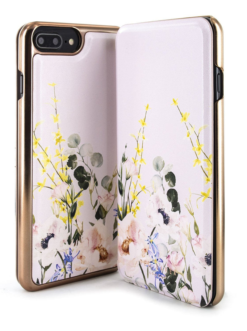 Front and back image of the Ted Baker Apple iPhone 8 Plus / 7 Plus phone case in Pink