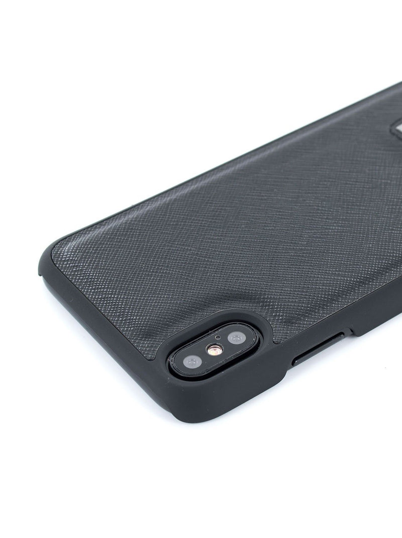 Face down image of the Ted Baker Apple iPhone XS / X phone case in Black