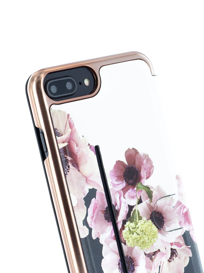 Detail image of the Ted Baker Apple iPhone 8 Plus / 7 Plus phone case in Black