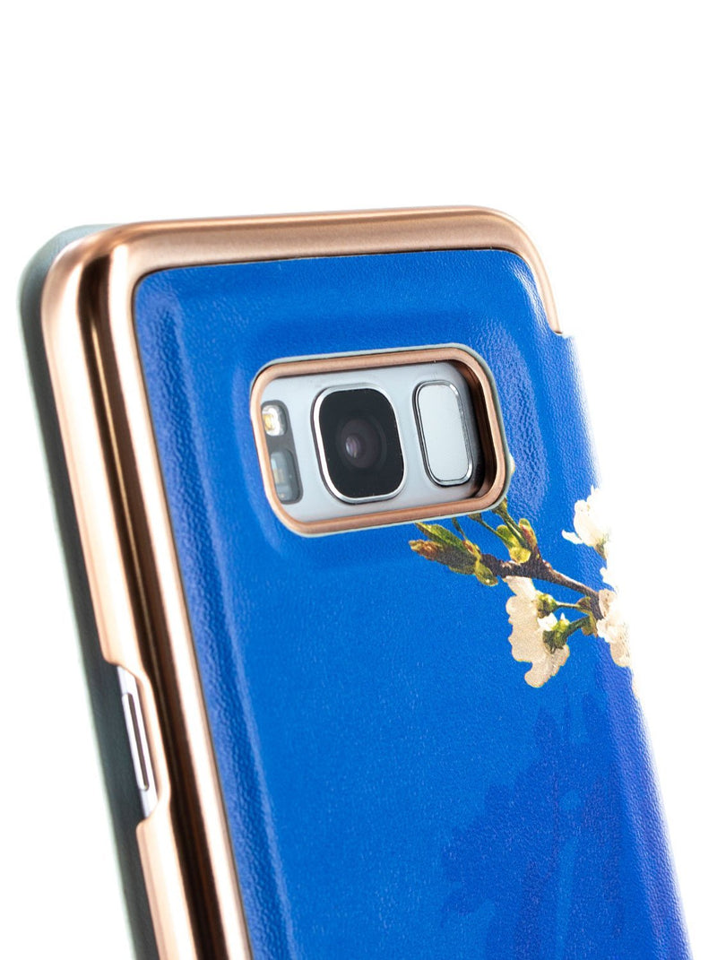 Detail image of the Ted Baker Samsung Galaxy S8 phone case in Blue