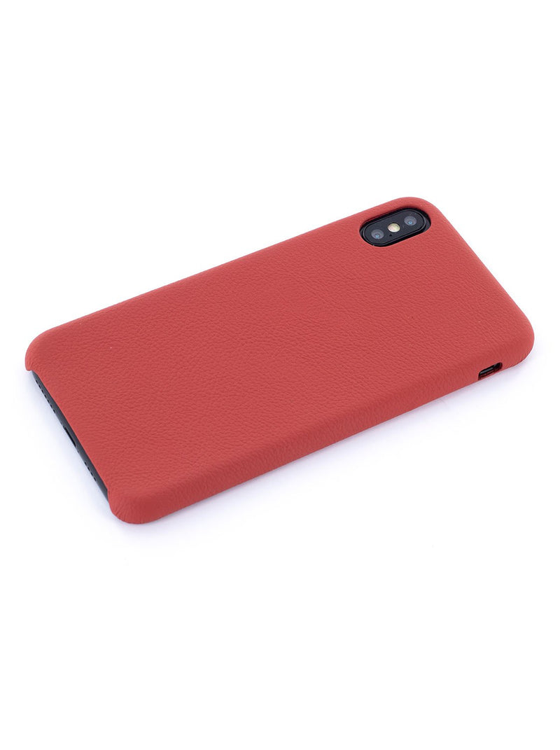 Face down image of the Greenwich Apple iPhone XS Max phone case in Red