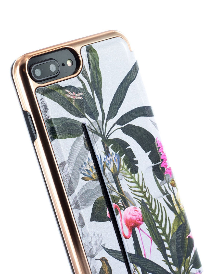 Detail image of the Ted Baker Apple iPhone 8 Plus / 7 Plus phone case in Grey