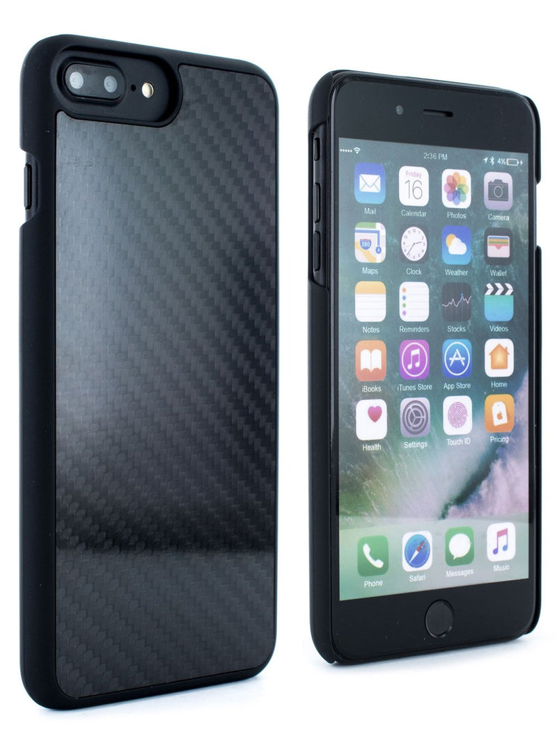 Front and back image of the Proporta Apple iPhone 8 Plus / 7 Plus phone case in Black