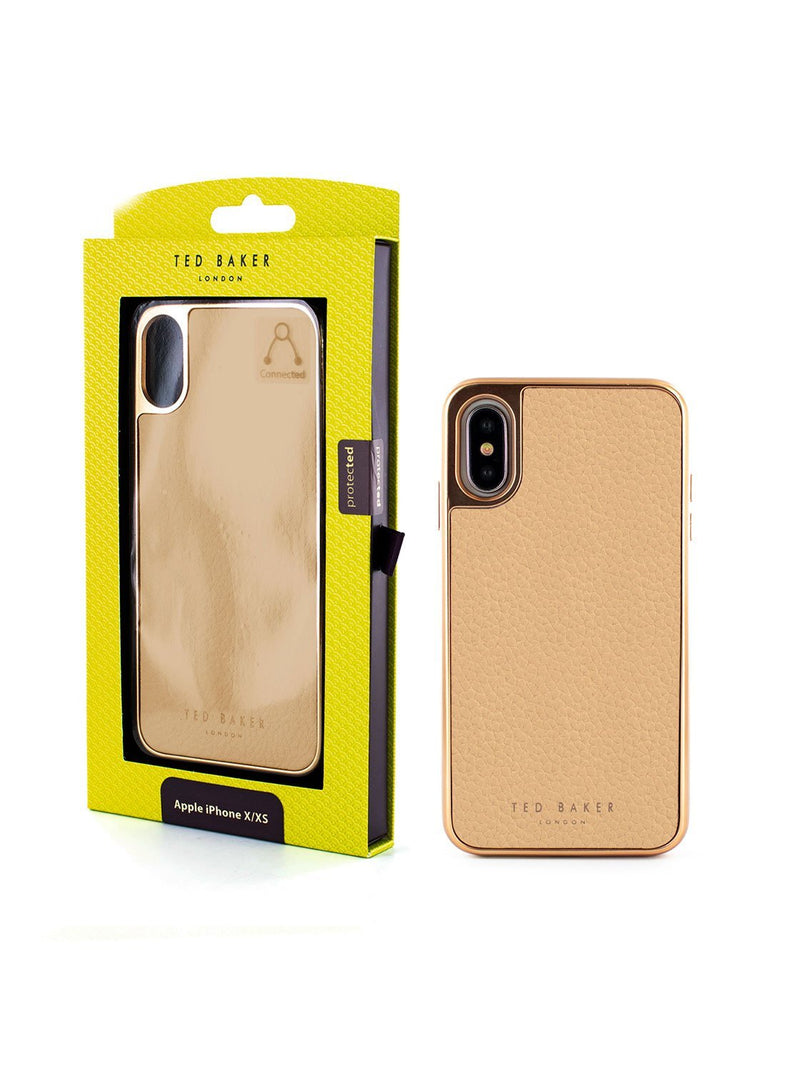 Packaging image of the Ted Baker Apple iPhone XS / X phone case in Taupe
