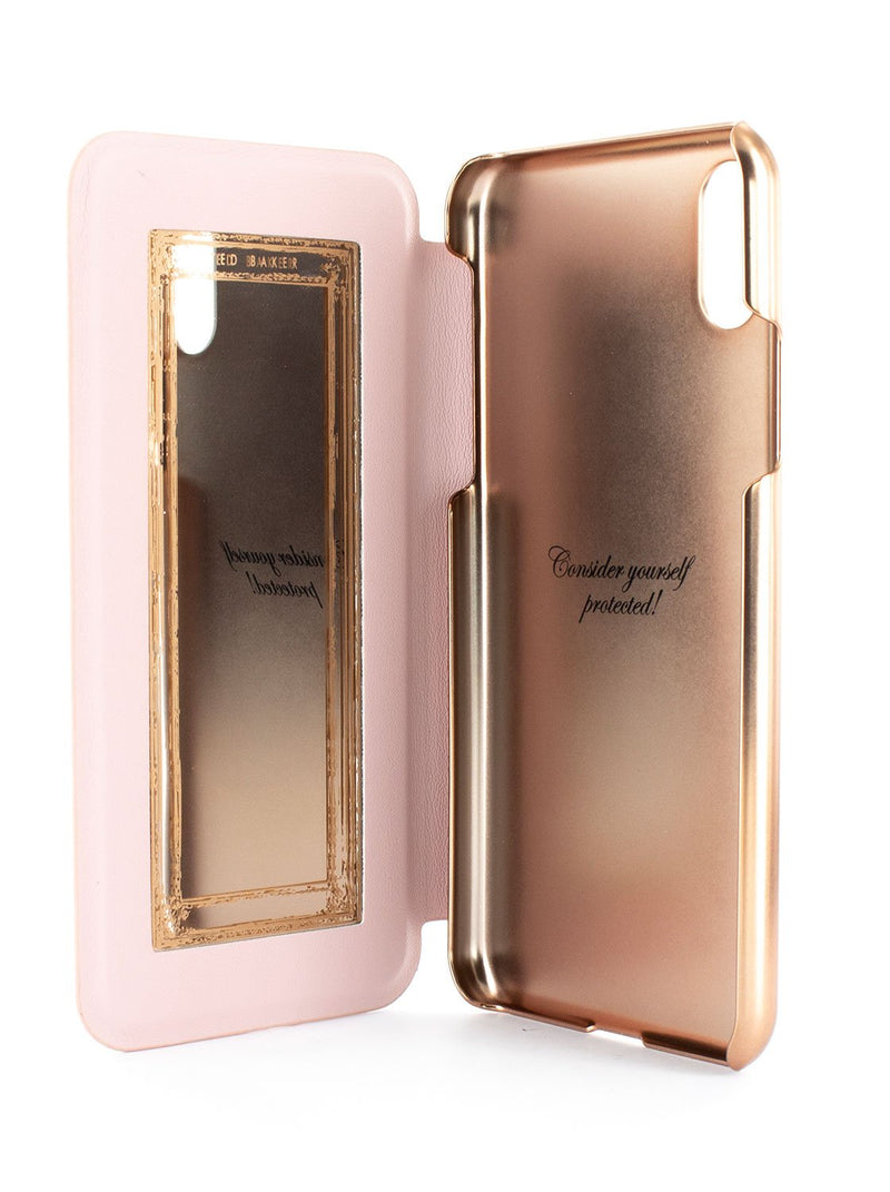 Inside image of the Ted Baker Apple iPhone XS / X phone case in Babylon Nickel