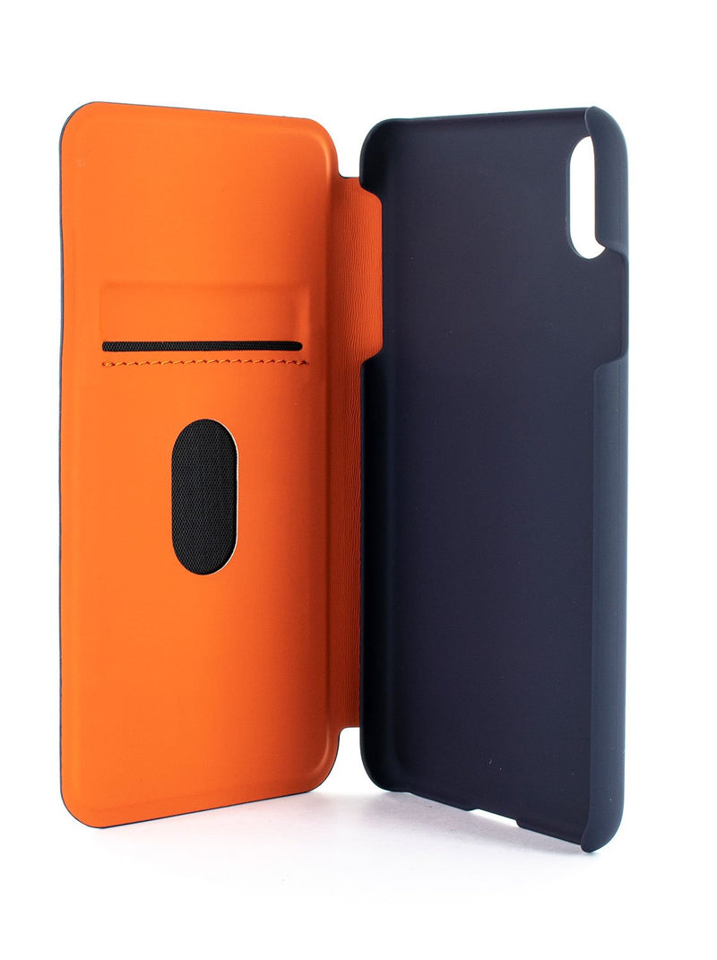 Inside image of the Ted Baker Apple iPhone XS / X phone case in Navy Blue