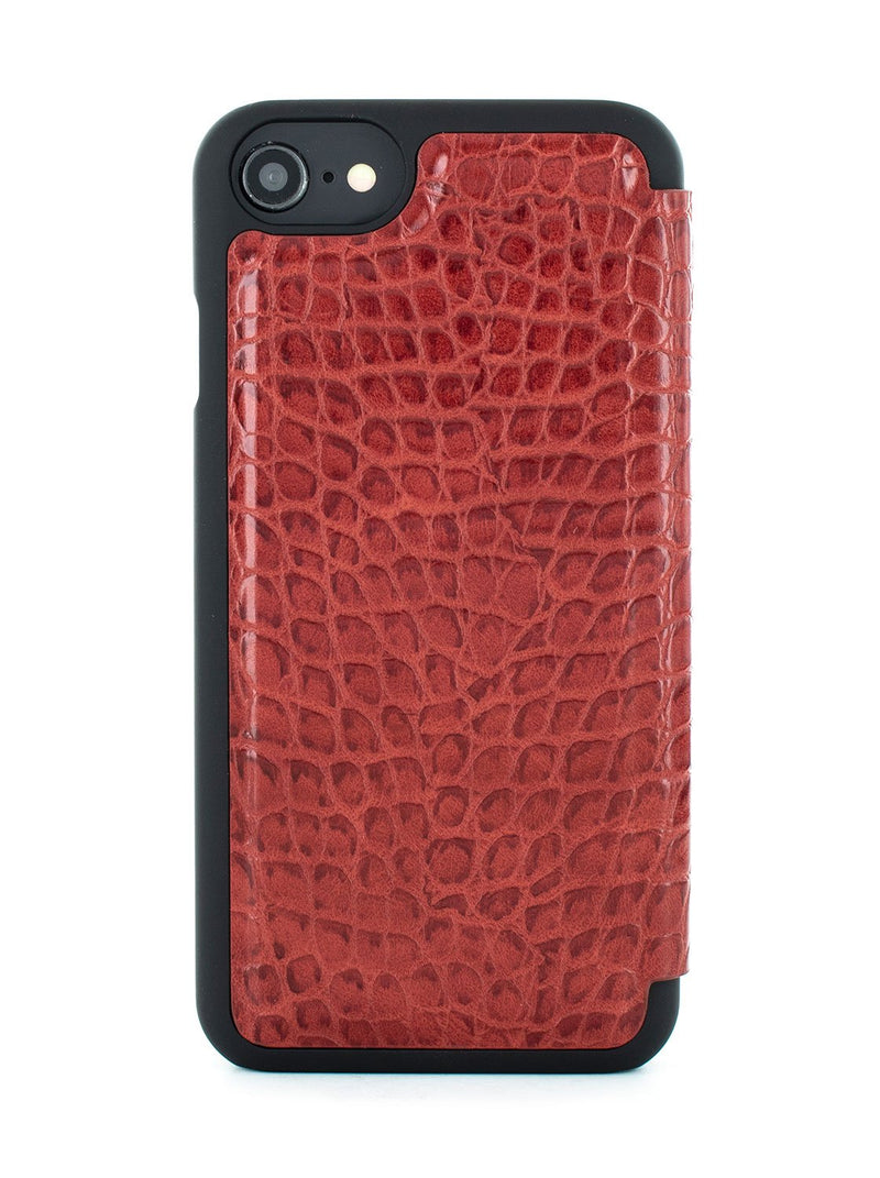Back image of the Karen Millen Apple iPhone 8 / 7 / 6S phone case in Red