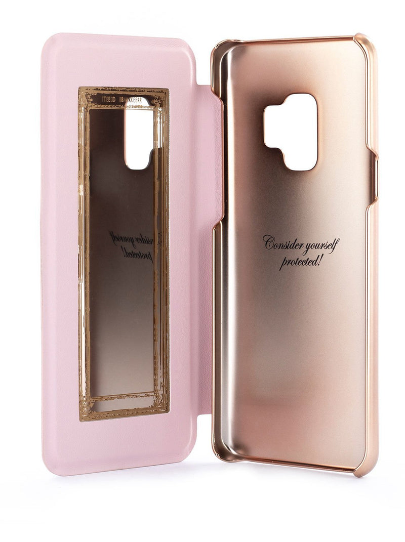 Inside image of the Ted Baker Samsung Galaxy S9 phone case in Nude