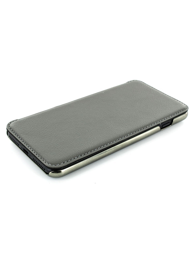 Face up image of the Greenwich Apple iPhone 8 Plus / 7 Plus phone case in Porpoise Grey