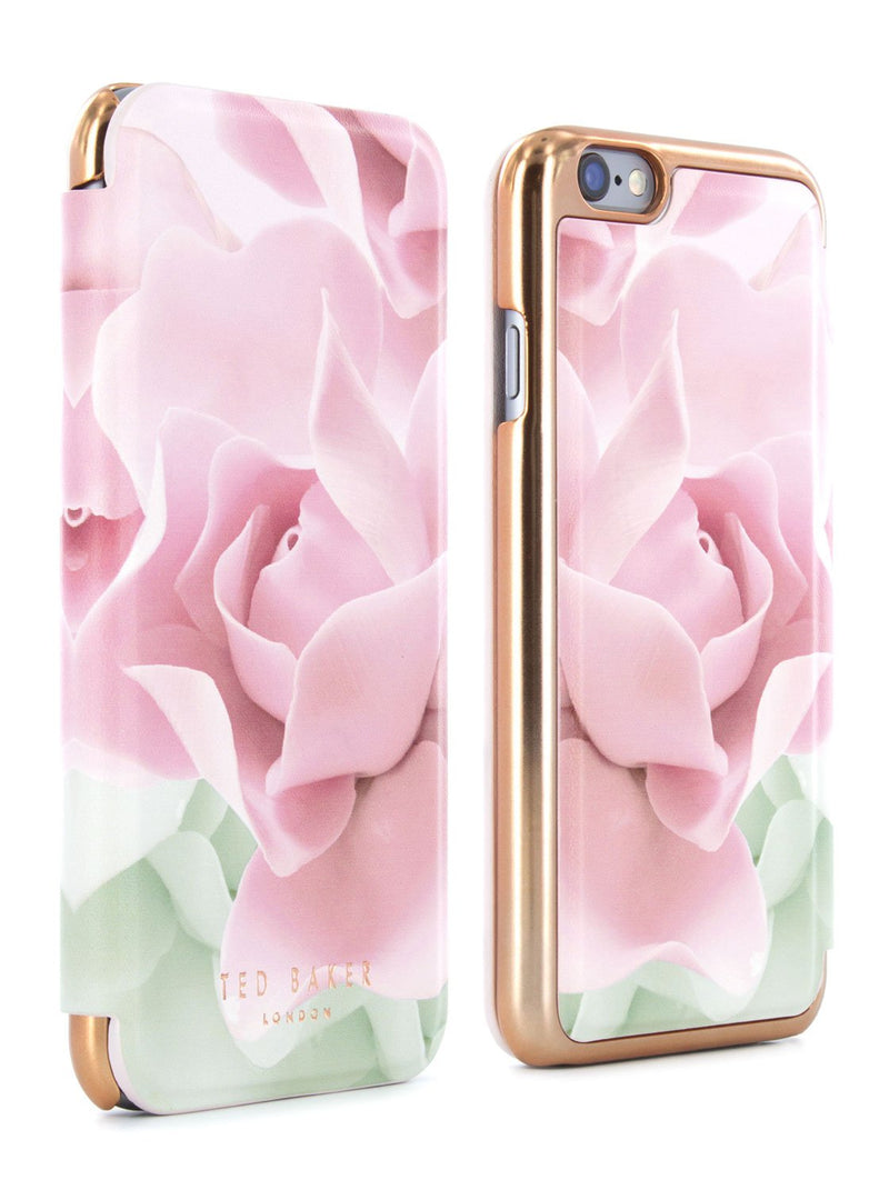 Front and back image of the Ted Baker Apple iPhone 6S / 6 phone case in Nude