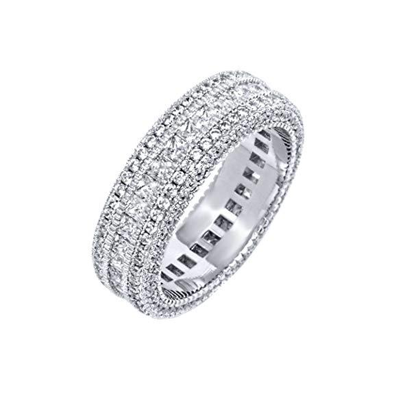 Classic Promise Ring in 18K White Gold Plated
