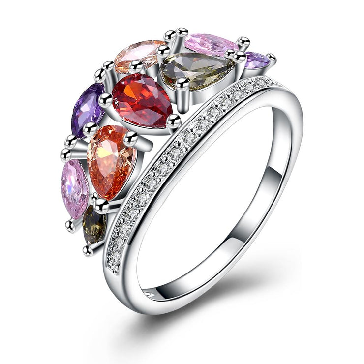 Multi-Gemstone Cocktail Promise Ring
