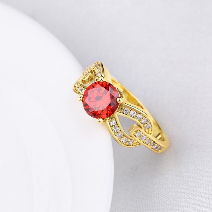 Micro-Pav'e Overlap Ruby Ring in Gold