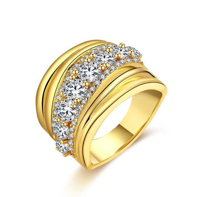 Micro-Pav'e Grapevine Design Wrap Engagement  Ring