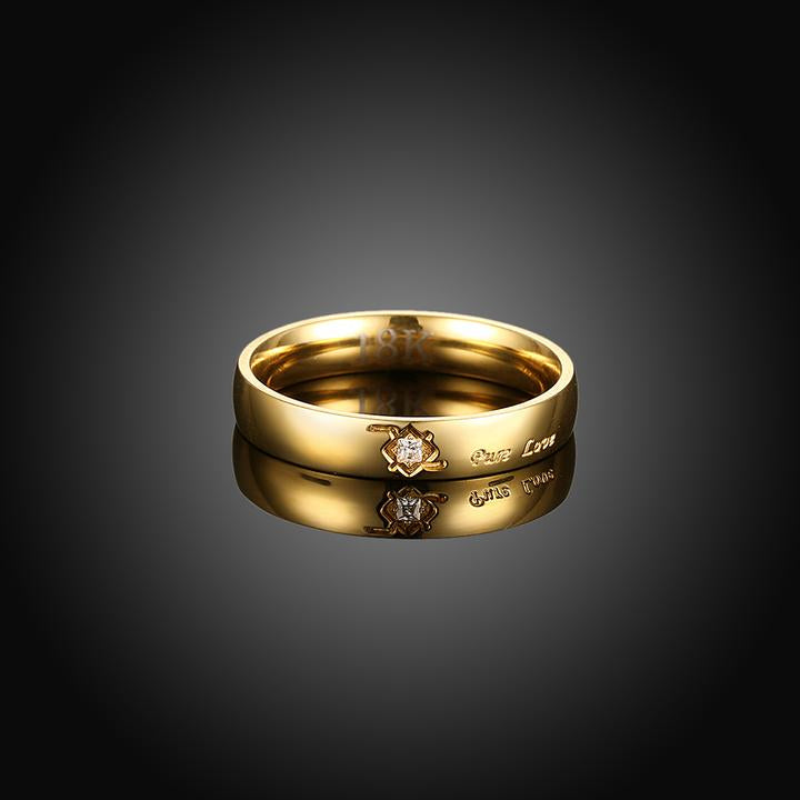 Gold Plated Mini Scribe Ring