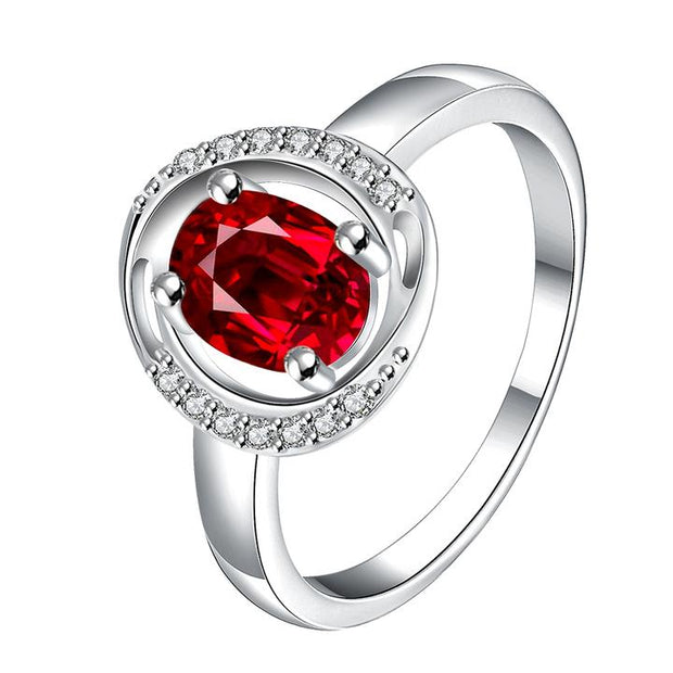 Circular Ruby Promise Ring