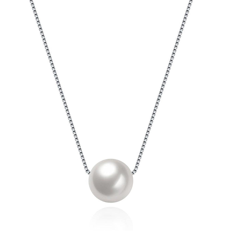 Sterling Silver Classic Freshwater Pearl Necklace