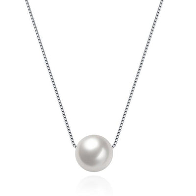 Single Sterling Silver Pearl Necklace