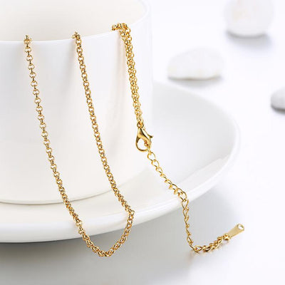 Gold Plated Classic New York Chain Link Necklace