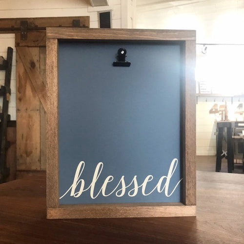 Blessed Picture Clip Framed Sign