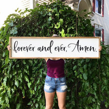 Load image into Gallery viewer, Forever And Ever, Amen Framed Sign