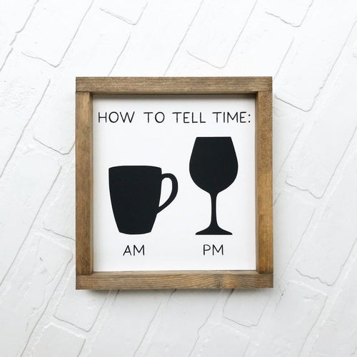 How To Tell Time Framed Sign