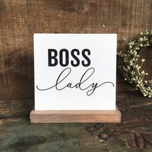 Load image into Gallery viewer, Boss Lady Mini Tabletop Sign