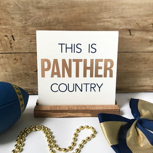 This is (CUSTOM) Country Mini Tabletop Sign