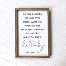 Load image into Gallery viewer, The Beatles Lullaby Framed Sign