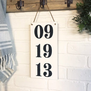 Wedding Anniversary Numbers Hanging Sign