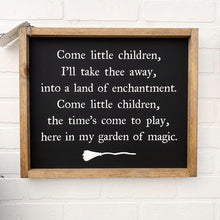 Load image into Gallery viewer, Come Little Children Framed Sign