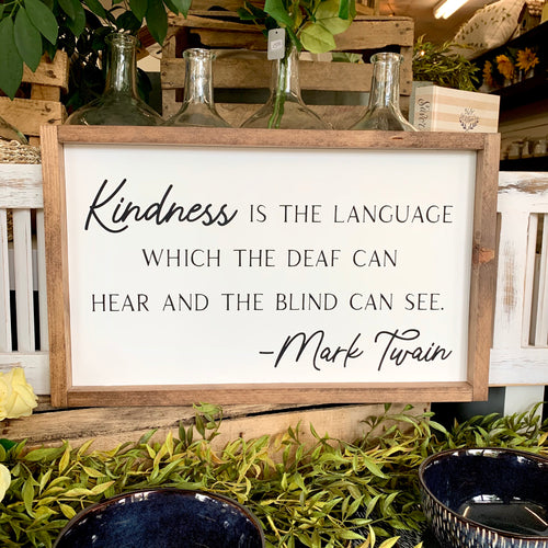 Mark Twain Quote Framed Sign