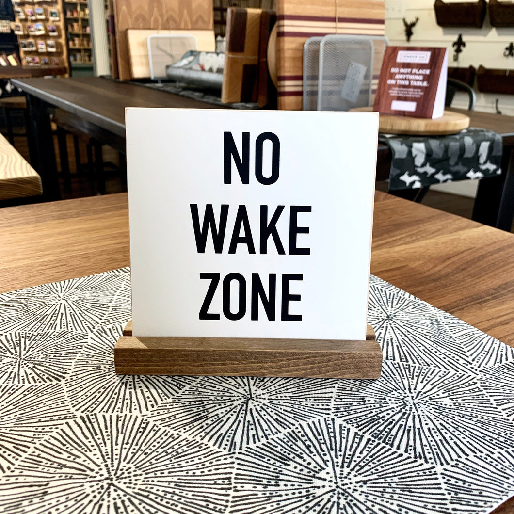 No Wake Zone Mini Tabletop Sign