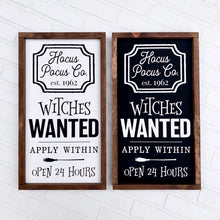 Load image into Gallery viewer, Witches Wanted Framed Sign