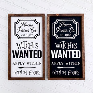 Witches Wanted Framed Sign