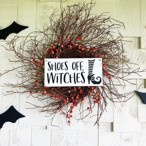 Shoes Off, Witches Hanging Sign