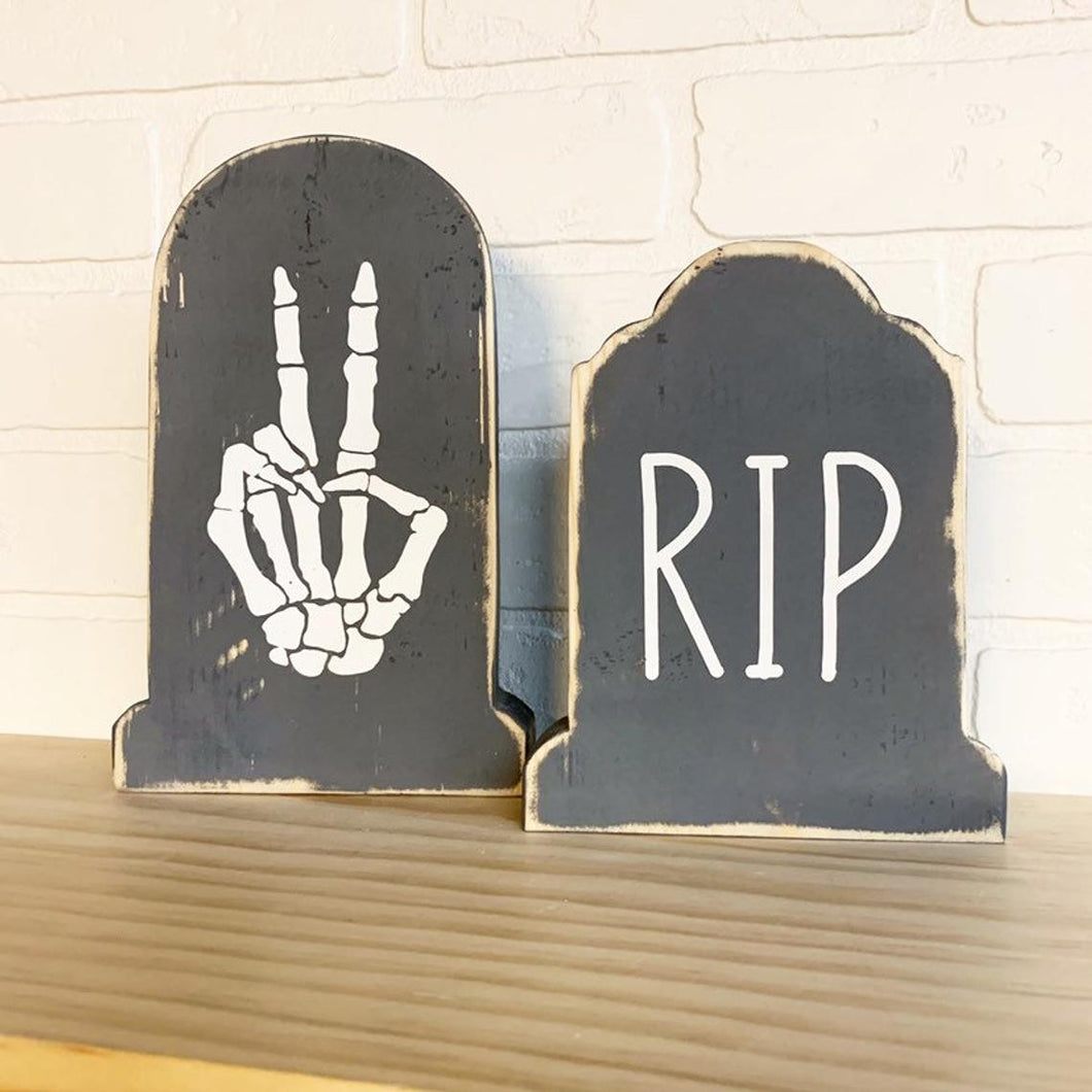 RIP Tombstone Tabletop Decor