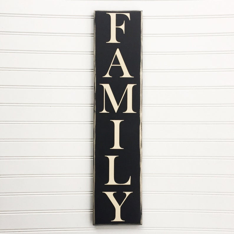 Vertical Family Sign