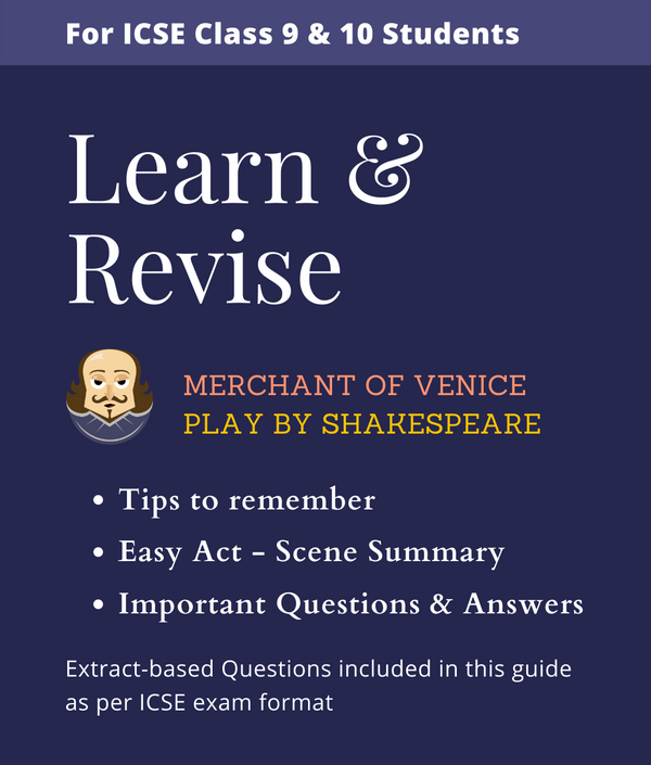 Merchant of Venice Important Questions and Answers Guide for ICSE Class 9 & 10