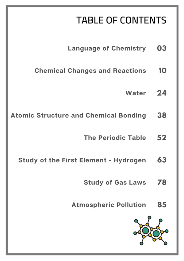ICSE Class 9 Chemistry Super Notes