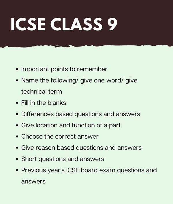 ICSE Class 9 Biology Super Notes