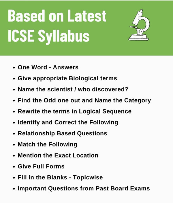 ICSE Biology Class 10 Super Notes Most Important Objective Questions and Answers