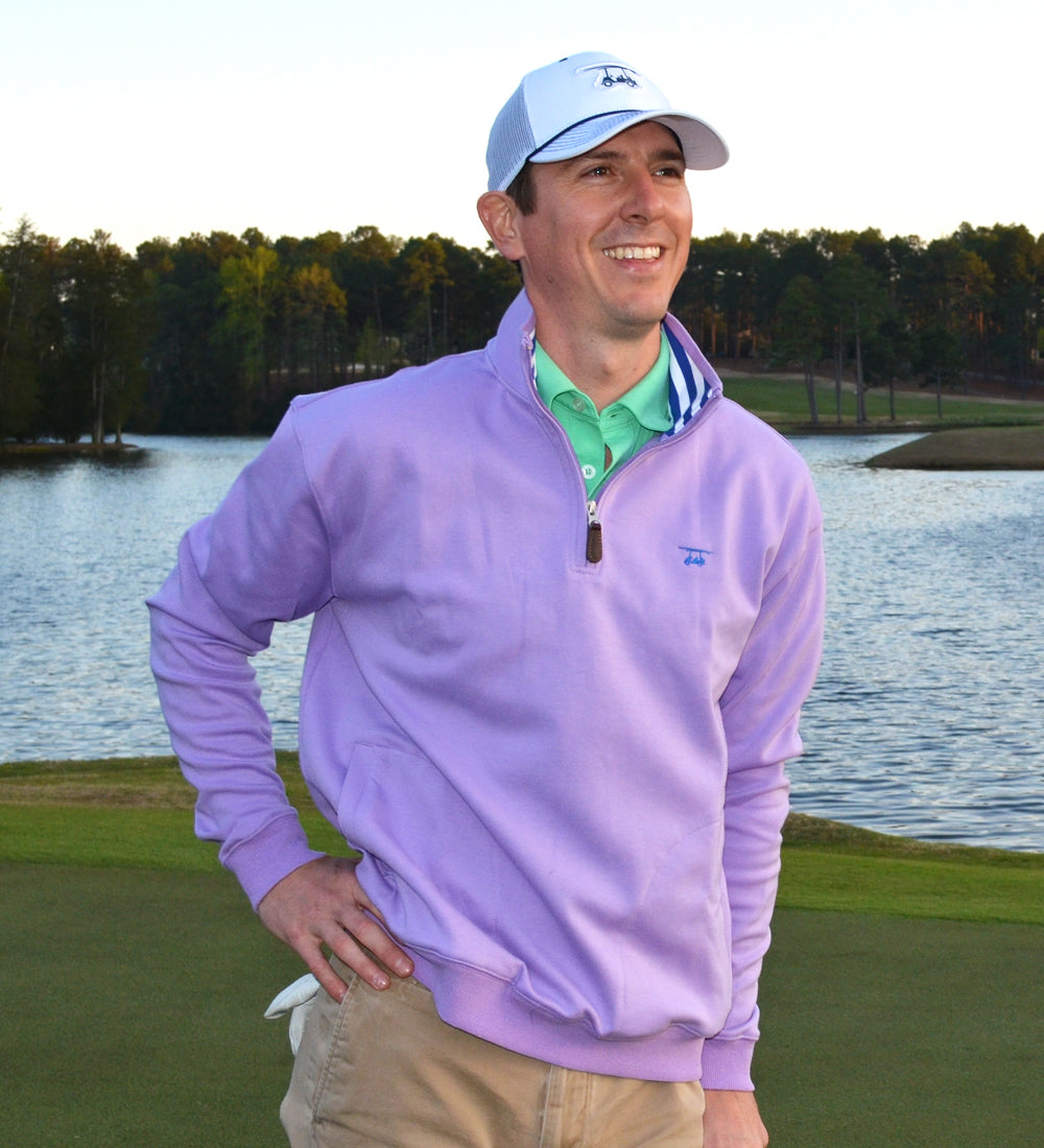 19th Hole Quarter-Zip Pullover - Purple
