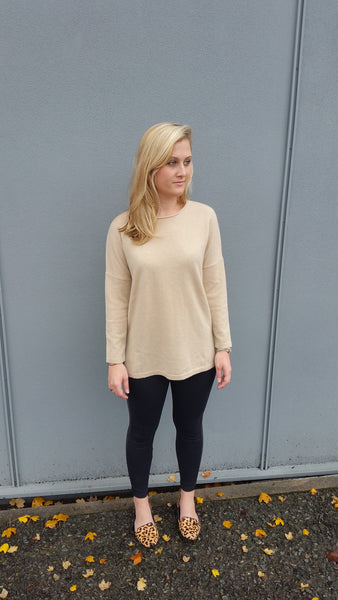 Sunset Cashmere Sweater - Women's - Camel