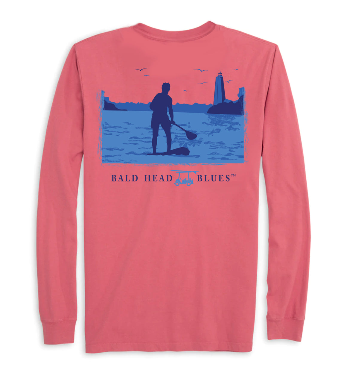 Island Tee - Long Sleeve Paddleboard - Brick